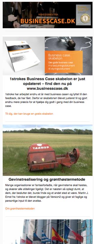forside af nyhedsbrev februar 2018 fra businesscase.dk