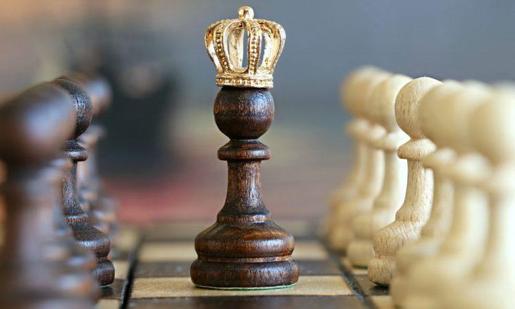 Skak konge som billede på bestyrelse