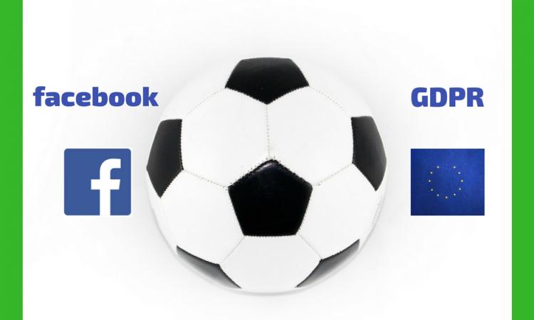 fodbold en kamp mellem facebook og gdpr