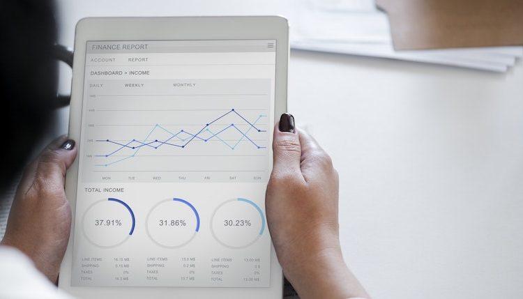 Ipad med KPI's