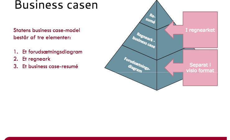 Statslige business case model